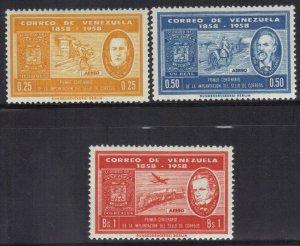 VENEZUELA SC# 740-42 **MNH** 1959    SEE SCAN