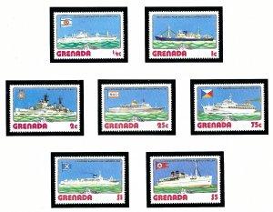 Grenada 764-70 MNH 1976 Ships