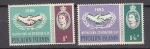 J27383 1965 pitcairn island mnh set #54-5