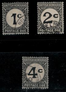 British Honduras 1923-1964 SC J1-J3 Used Set SCV $68
