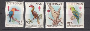 J27818, 1967 philippines set  mnh #b32-5 birds