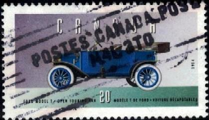 Historic Land Vehicle, Ford Model T, 1914, Canada stamp SC#1605o used