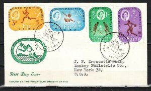 Fiji, Scott cat. 199-202. 1st So. Pacific Games issue. First day cover. ^
