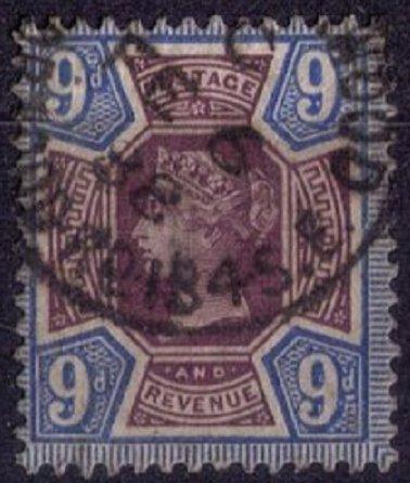 Great Britain Sc #120 9p Blue & LilacVery Fine