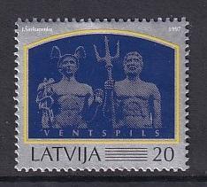 Latvia   #445   MNH   1997     Hermes   Poseidon   Port of Ventspils