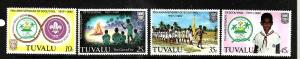Tuvalu-Sc#176-9-unused NH set-Boy Scouts-1982-
