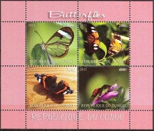 Congo 2011 Butterflies (2) MNH Cinderella !