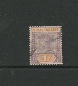 Leeward islands 1890 QV 4d Used SG 4