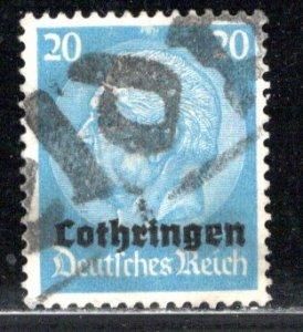 France - under German occupation Lorraine Scott # N51, used