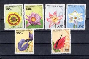 024850 Orchid BENIN set of 6 stamps MNH#24850