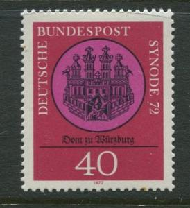 GERMANY. -Scott 1100 - Wuzburg Cathedral -1972- MNH -Single 40pf  Stamp