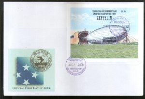 Micronesia 2000 Zeppelin Graf Air Ship Aviation Sc 391 M/s FDC # 9397