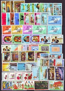 J22384 Jlstamps 14 dif anguilla sets mh/mnh earl issues