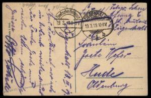German 1919 Freikorps Bad Zigenhals Oberschlesien Grenzschutz Ost Feldpost 87278