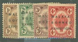 Malaya Kedah 3a/23a-28a Mint F-VF HR