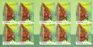 Singapore 2001 Orangutan Booklet  VF