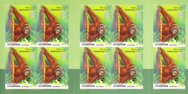Singapore 2001 Orangutan Booklet  VF