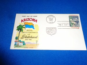 FLEUGEL MULTI COLORED CACHET FDC:  US SCOTT#  1192