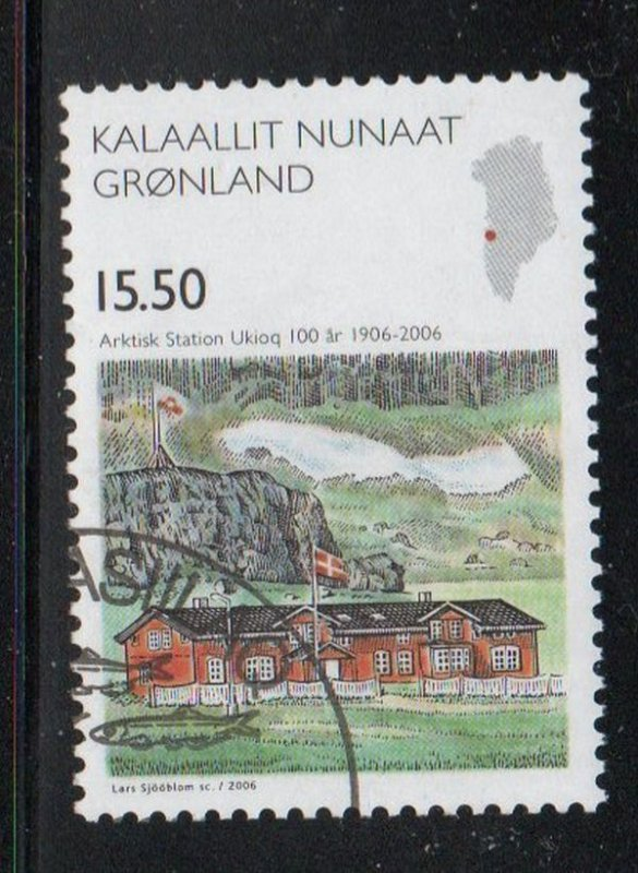 Greenland Sc 484 2006 15.5 kr Research Station stamp used
