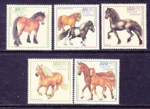 Germany B813-17 MNH 1997 Various Types of Horses & Ponies Full Set