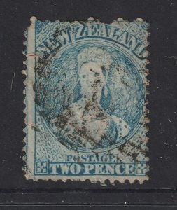 New Zealand a used QV 2d blue full face
