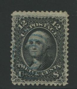 1868 United States Postage Stamp #85E Used F/VF Blue Cancel Z. Grill Certified