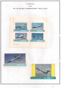 SCOTLAND - STAFFA - 1982 - Passenger Aircraft - Perf 4v, Souv, D/L Sheets -MLH