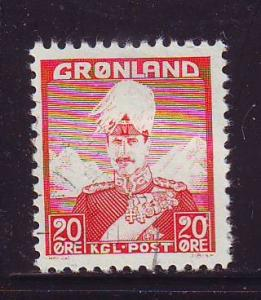 Greenland Sc 6 1946 20 2 Christian X stamp used