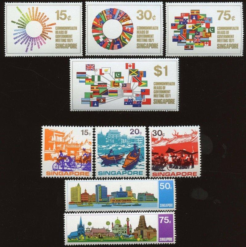 Singapore - Sc # 129 - 132, 133 - 137  MNH. 2017 SCV $26.00