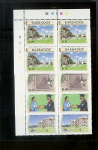 BARBADOS Sc#954-957 Complete Mint Never Hinged PLATE BLOCK Set