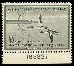 momen: US Stamps #RW23 Duck Mint OG NH VF/XF