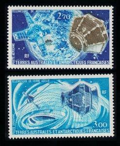 FSAT TAAF Satellites 2v 1977 MNH SG#120-121 MI#120-121 SC#C52-C53 CV£15.25