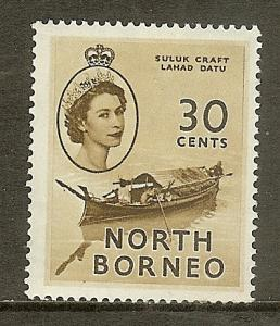 North Borneo, Scott #270, 30c Queen Elizabeth II, MNH