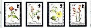 Pitcairn Is 110-13 MNH 1970 Pitcairn Flowers         (KA)