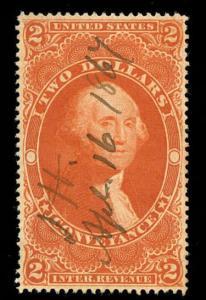 momen: US Stamps #R81c Used Revenue Manuscript
