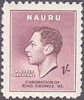 Nauru # 38 hinged ~ 1sh George VI