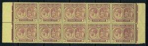 St. Kitts-Nevis #46* NH  Block of 10  CV $12.50