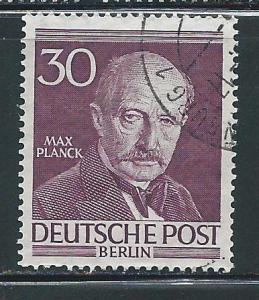 Germany Berlin 9N92 30pf Max Planck single Used