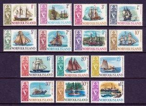 Norfolk Island - Scott #100-113 - MNH - A few toning spots - SCV $12