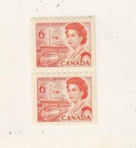 CANADA (MK423) #468Ai  HB DEX VF-MNH 6cts QEII /CENTENNIAL COIL PAIR /ORG CV $18