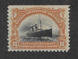 299 Unused, 10c. Pan-American, scv: $115  FREE INSURED SHIPPING