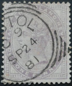 Great Britain 1881 QV One Penny Die (14 dots) SG 171 used