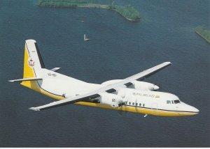 7559 Aviation Postcard  ROYAL BRUNEI FOKKER 50 V8-RBI CN 20280  Airlines