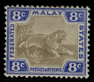 MALAYSIA - Federated Malay EDVII SG41b, 8c grey-brown & ultra, M MINT. Cat £21.