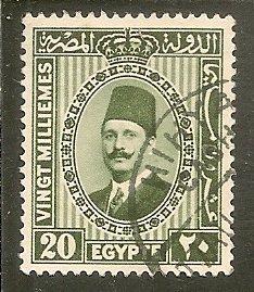 Egypt  Scott 142   King    Used