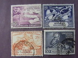 MALAYA/SINGAPORE # 23-26-USED--COMPLETE SET---1949(LOTB)