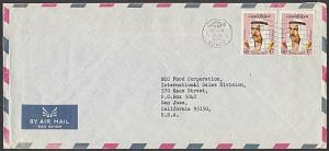 KUWAIT 1972 commercial airmail cover to USA - .............................28066