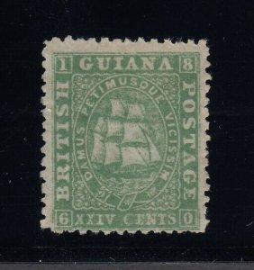 British Guiana, Sc 33 (SG 56), MNG (regummed), w/ 2001 APS certificate