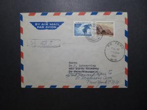 Liechtenstein SC# C20 & 205 On 1949 Cover to USA - Z11838