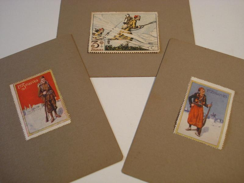 WWI Military French Zouaves 3 CINDERELLA POSTER STAMP